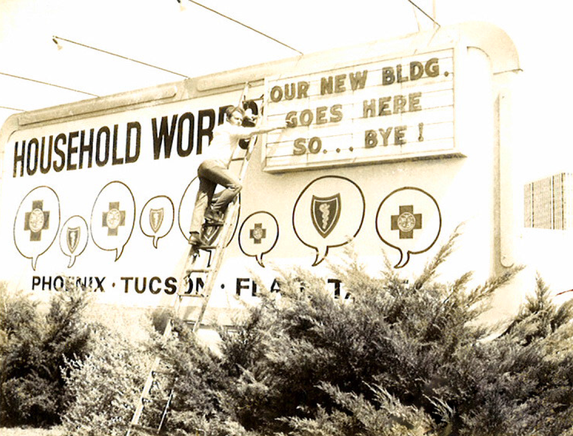 1930s We're moving sign
