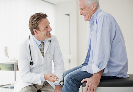 Male doctor and a male senior