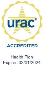 URAC Health Plan Accredited Expires 02/01/2018